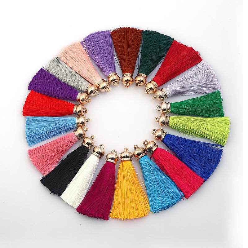 Polyester tua nhỏ rèm tai quần áo tua móc chìa khóa túi mặt dây chuyền phụ kiện ice silk tassel 80 m