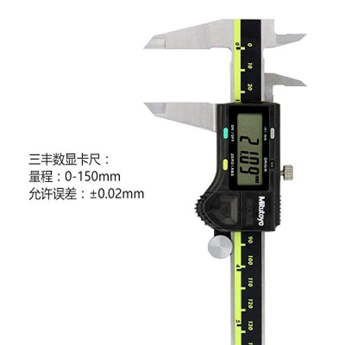 Nhật bản Mitutoyo hiển thị kỹ thuật số vernier caliper 0-150200300 mét thép không gỉ caliper điện tử