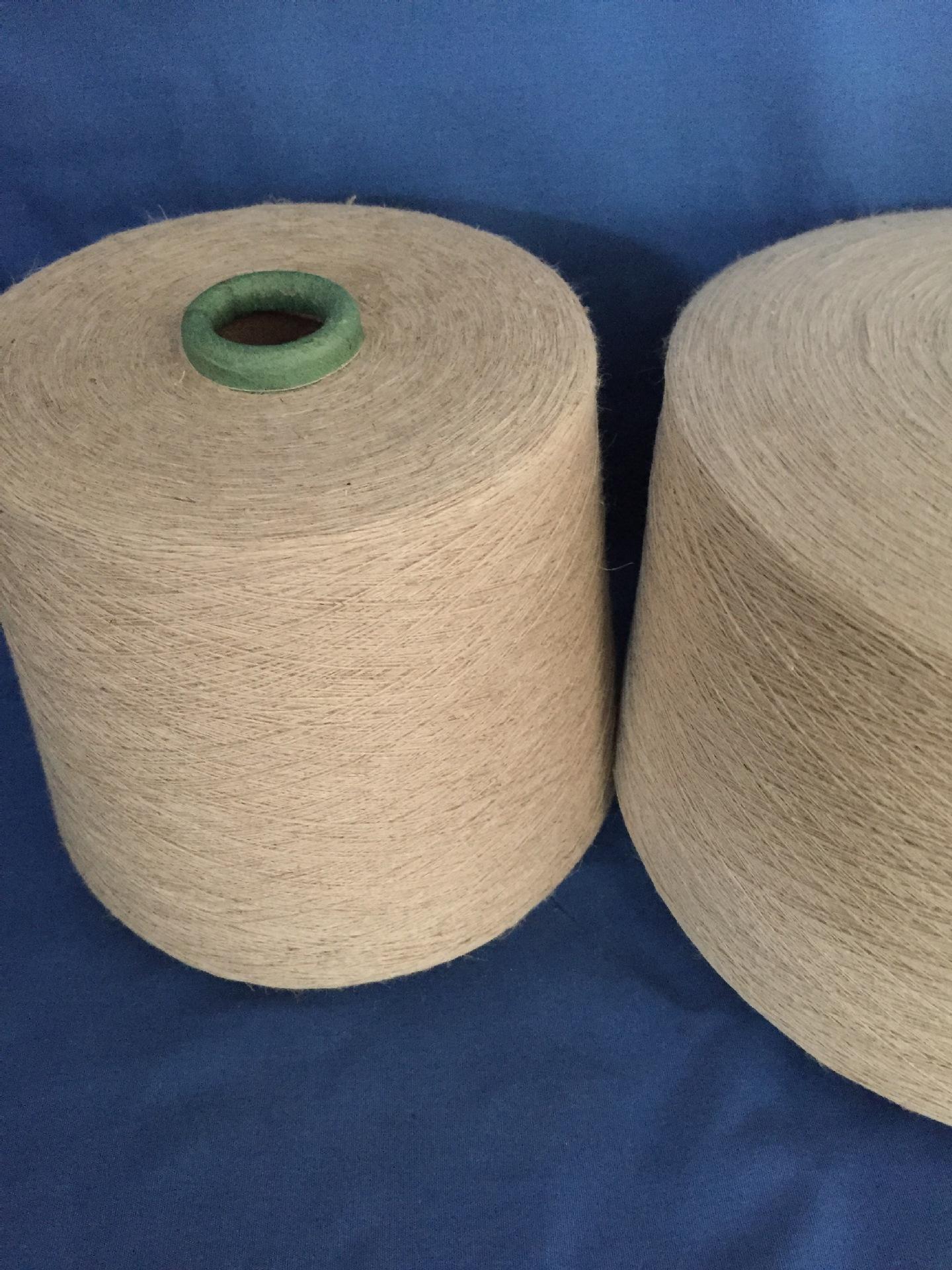 Nhà sản xuất chứng khoán bông và vải lanh pha trộn đan sợi C70 / L30 tỷ lệ 21 bộ của quần áo sợi gai
