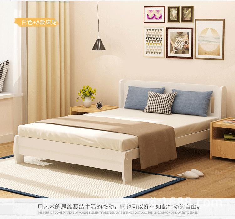 Nhà sản xuất bán buôn gỗ thật đấy, giường đơn giản. Nền kinh tế hiện đại trên giường gỗ thật đấy, tr
