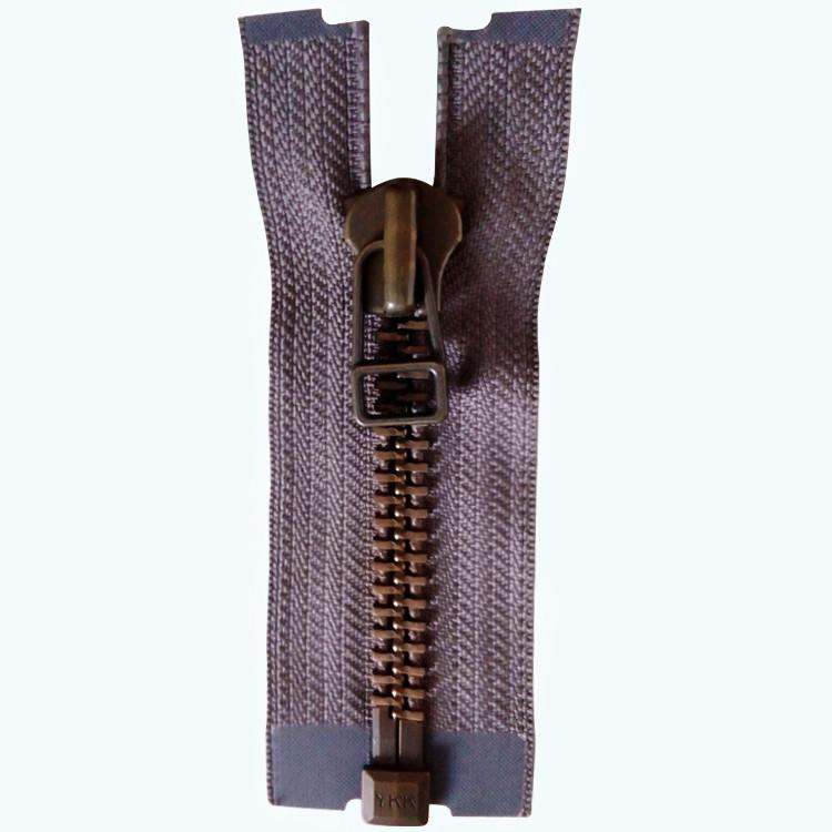 YKK kim loại mịn dây kéo Đích Thực ykk10 # màu xanh lá cây bronze răng mở đuôi quần áo phụ kiện