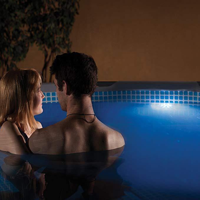 Blue wave điều khiển từ xa LED màu thay đổi hồ bơi nội thất trắng
