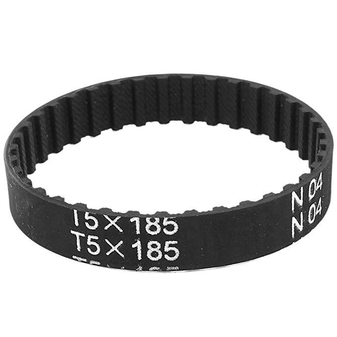 T5 X 185 37 răng 5 mm Cao su Pitch cogged vành đai thời gian công nghiệp 185 mm