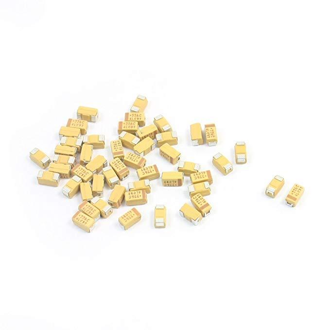 Sourcingmap a14041500ux0188 3,5 x 2 x 2 mm 22 μf 16 V 3216 Bề mặt TYPE MOUNT Tantali Chip Tụ - đa mà