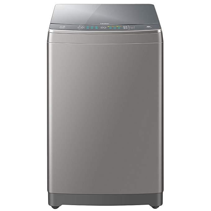 Haier Haier XQS100-BZ866 10 kg máy giặt sóng Tianmu điện kép titan màu xám bạc
