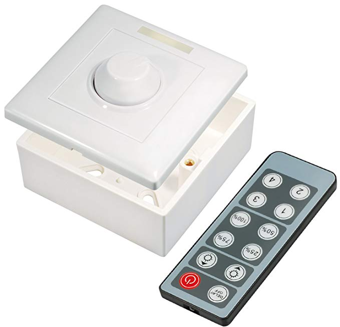 Transmedia lc16l dimmer cho điều khiển LED màu đơn với điều khiển từ xa 12 V / 96 W