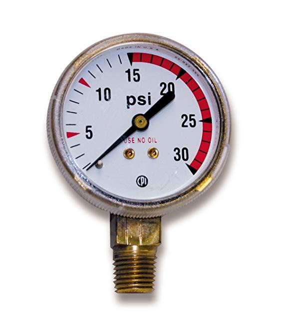 US Kích thước FORGE 08036 VICTOR Kiểu Đồng hồ áp suất thấp cho điều chỉnh axetylen 0 - 30 p.s.i. với
