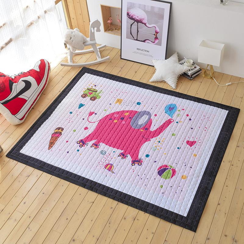 Bắc Âu INS bức bích họa gió siêu - xứ bò đệm game Mats Yoga Mats chụp ảnh tấm thảm phòng khách trơn