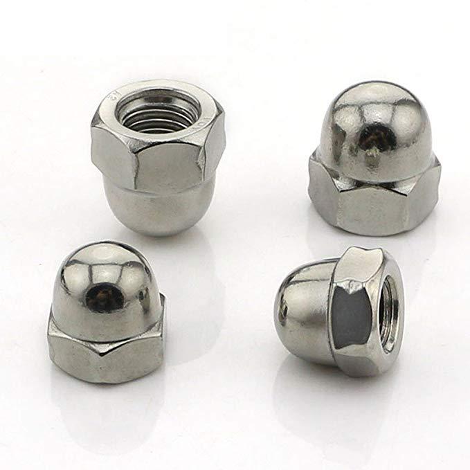 DRD 304 thép không gỉ cap nut 316 cap nut trang trí nut M3M4M5M6M8M10M12M14M20 M8 (5 cái) (201 chất
