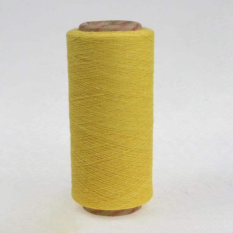 Nhà máy trực tiếp 8 ~ 21 chải màu vàng tái chế sợi bông Polyester cotton tái chế sợi bông tùy chỉnh