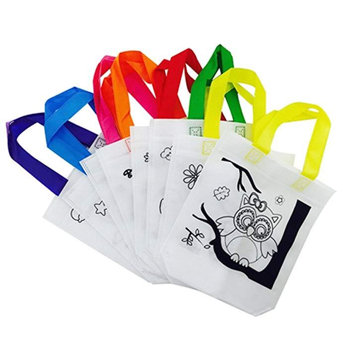 Tay trống- sơn thân thiện với môi trường không dệt túi tote túi trẻ em tự làm bức tranh sơn màu graf