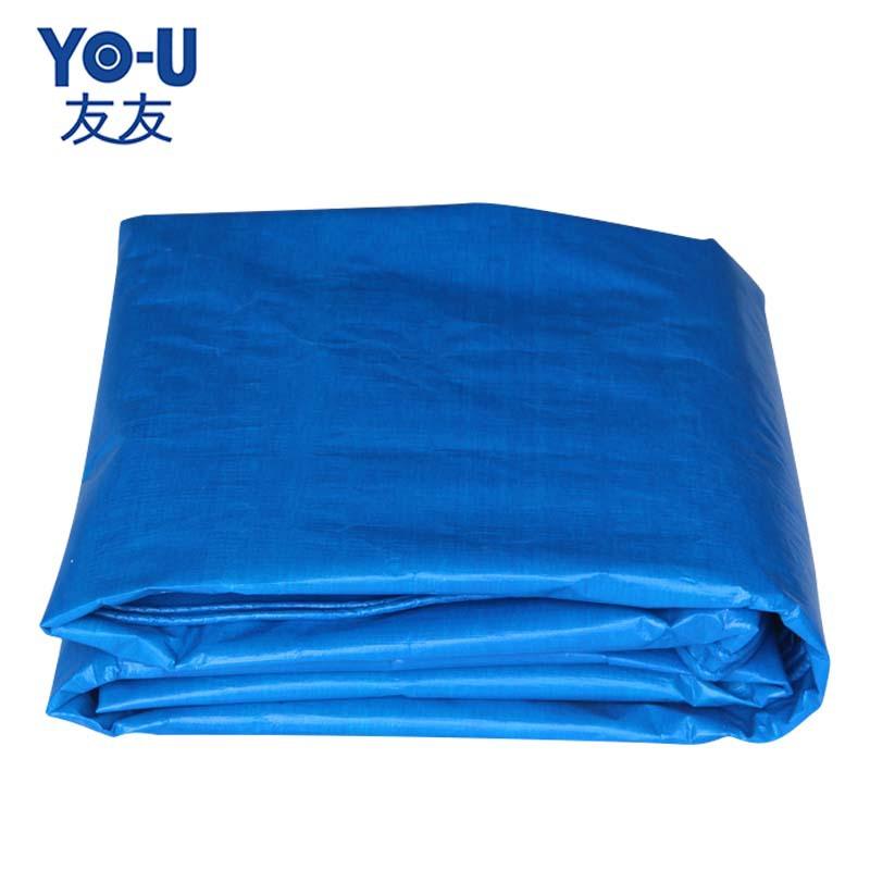Pe màu xanh và trắng nhựa dệt bạt pe dệt vải không thấm nước và không ướt kem chống nắng lều vải tru