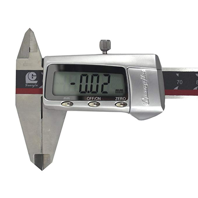 Guanglu thép không gỉ màn hình lớn ba nút kỹ thuật số caliper kỹ thuật số điện tử caliper 150 MÉT