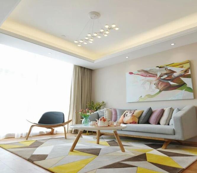 Phòng khách hàng đã làm đồ nội thất phòng bảo vệ thảm kĩ trà ghế thủ công thảm giữa các mẫu, lưỡi lê