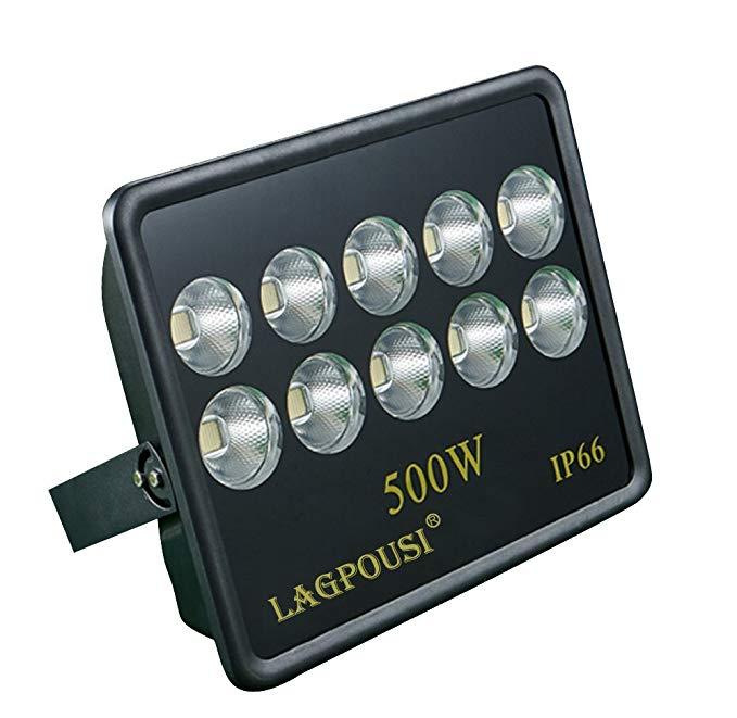 LED 500 Wát spotlight chiếu trắng 6000 K 60 độ chiếu sáng góc chiếu quảng cáo đăng đèn pha IP66