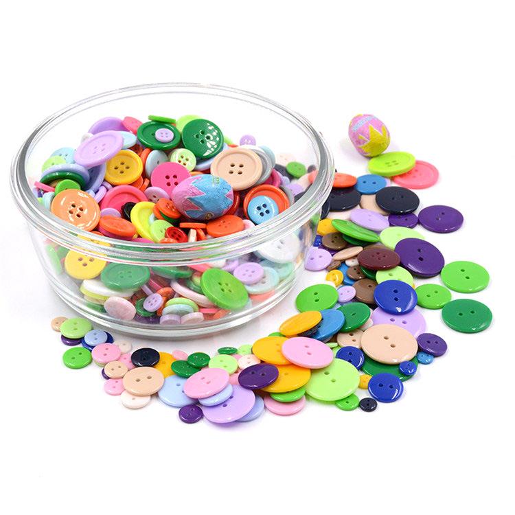 Nút màu sơn TỰ LÀM gói nguyên liệu kẹo màu trẻ em nút hoa handmade vòng bé nút áo sơ mi nhỏ twist