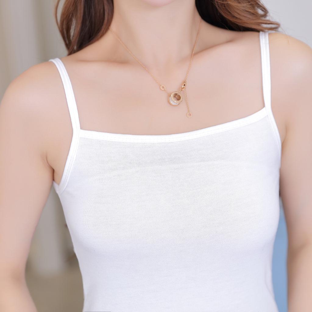 Nhà máy trực tiếp bông đáy áo Hàn Quốc phiên bản của dây áo vest một từ cổ áo sling đáy phụ nữ hoang