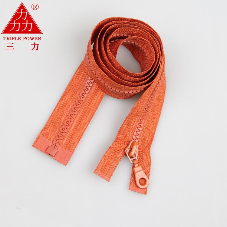 Số 5 nhựa nhựa dây kéo mở dây kéo vàng xuống áo khoác quần áo đặc biệt phụ kiện dệt may