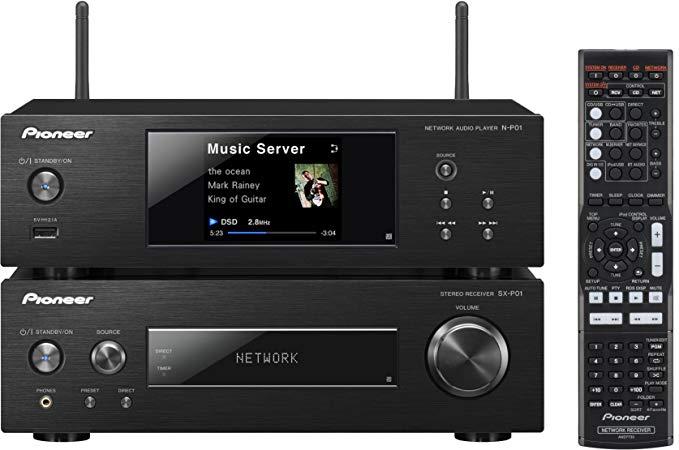Pioneer XN - P02 - K Hệ thống loa nhỏ gọn không dây (Bộ nhận âm thanh nổi, Đầu phát mạng, 2 X 75 Wat