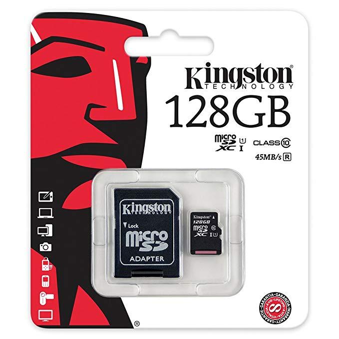 Thẻ nhớ tốc độ cao của Kingston Kingston Class10 Thẻ nhớ 128G (micro SD) Thẻ nhớ tốc độ cao 80MB / s