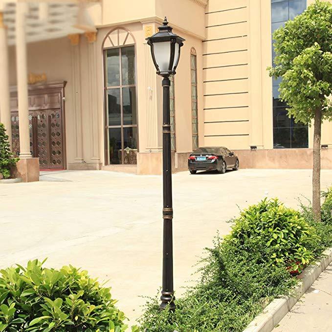 Châu âu cổ điển retro đèn đường đầu duy nhất cảnh quan vườn đèn đường cao cực đèn vườn biệt thự đèn