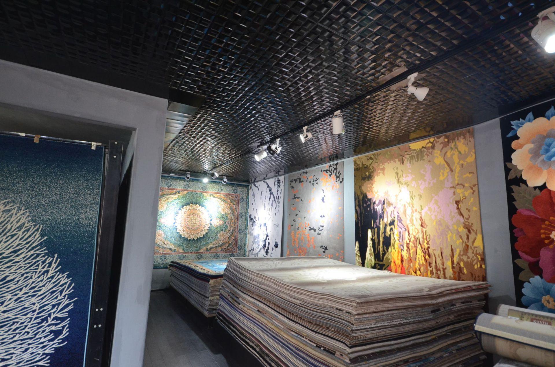 Chengdu thảm nhà sản xuất bán buôn hiện đại mới phong cách sáng 2018 Silk dây có phòng khách thảm ch