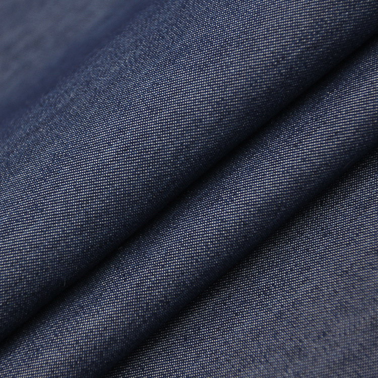 Tại chỗ denim bán buôn stretch silk denim vải có thể giặt denim mùa xuân và mùa thu vải denim