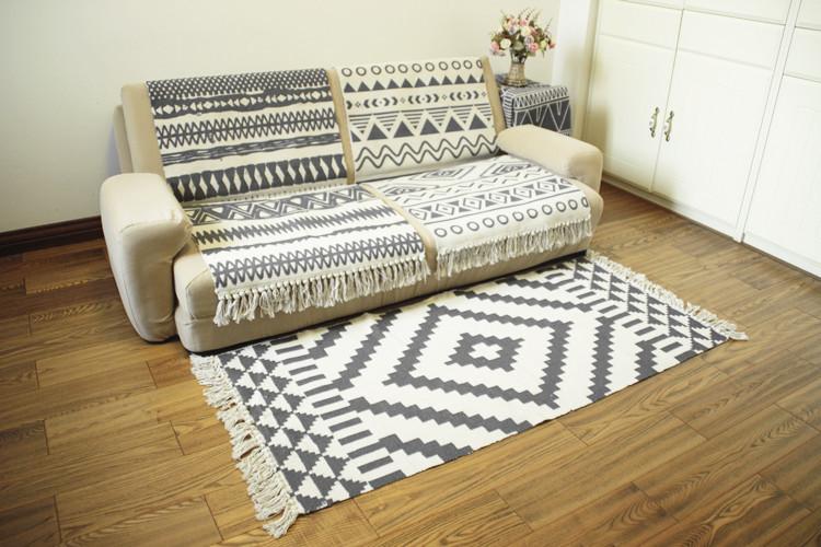 - đơn giản là, hình học xứ Bắc Âu châu Âu trong phòng khách phòng ngủ nhà kĩ trà đệm giường thảm tre