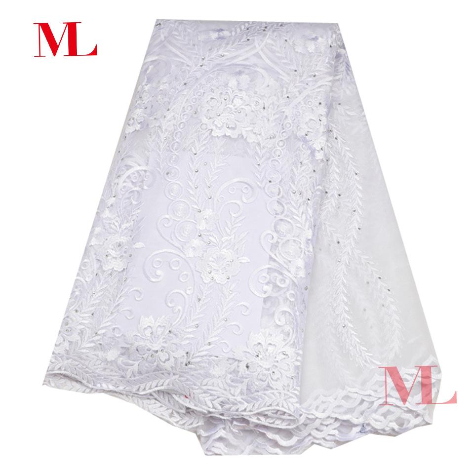 Pháp thêu vải thêu vi tính nụ lụa màn hình vải thêu vải thời trang thêu net váy cưới của phụ nữ vải