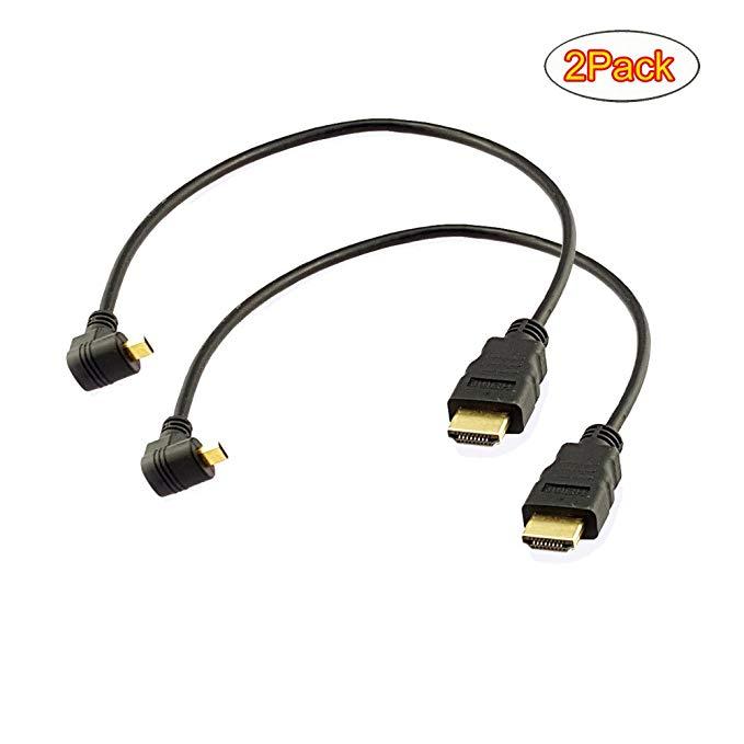 Seadream 1 ft 90 độ xuống góc micro HDMI nam để HDMI nam cáp nối
