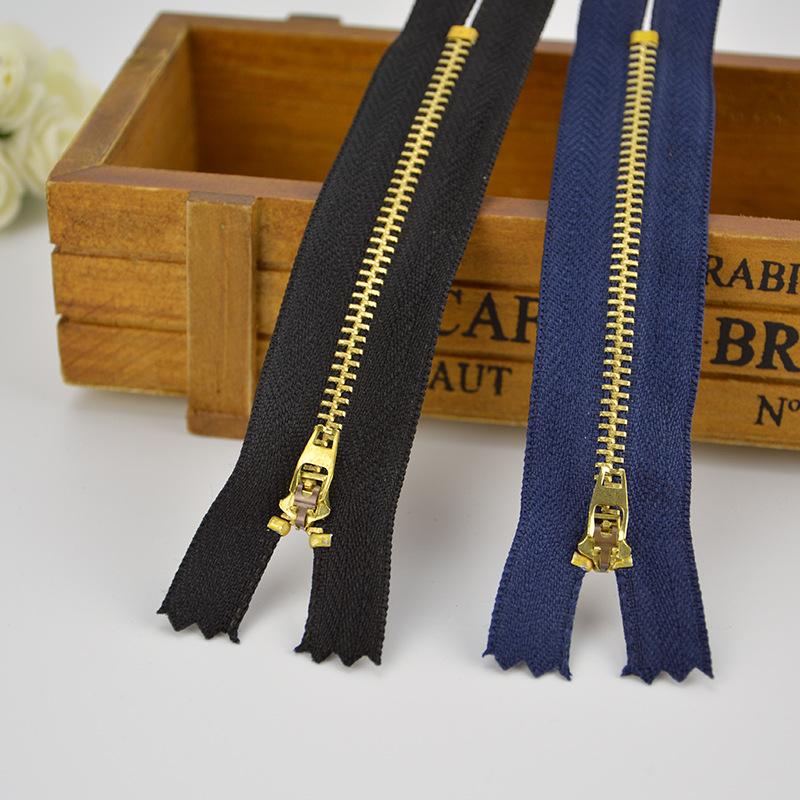 Tại chỗ đồng zipper # 3 brass door 襟 mùa xuân đầu dây kéo kim loại jeans dây kéo dây kéo kim loại tù