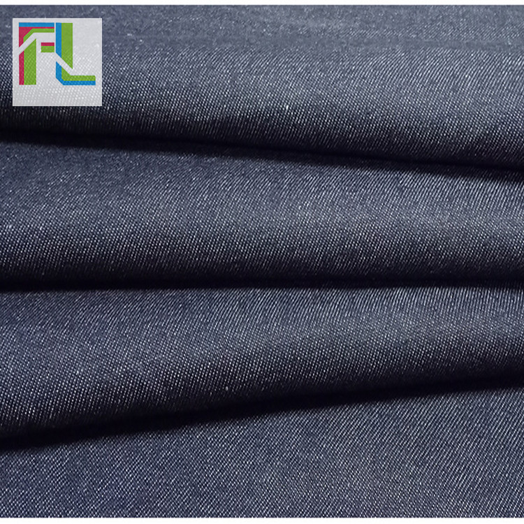 Tại chỗ nóng pha trộn interwoven polyester-bông twill denim 10 * 10 sợi túi xách giày quần áo vải