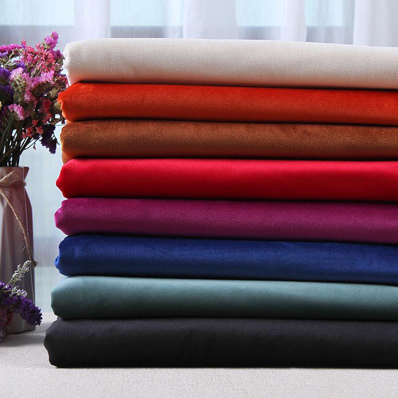 Lisi nhung polyester vải sofa gối may cotton rèm cửa hoàn thành nhiều màu dọc sợi dệt kim
