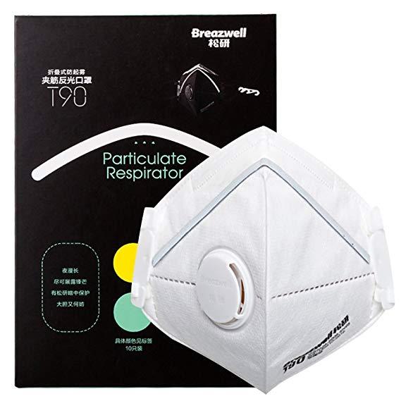 Breazwell lỏng nghiên cứu y học gân gấp phản chiếu khoản mang hơi thở tai đeo mặt nạ van phòng lớn,