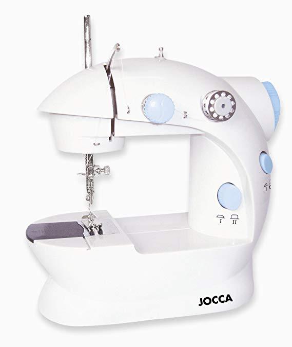 Jocca điện máy may nhỏ với đôi khâu, 4 ống chủ và kim., Trắng, 19.7 x 11.6 x 19.2 cm