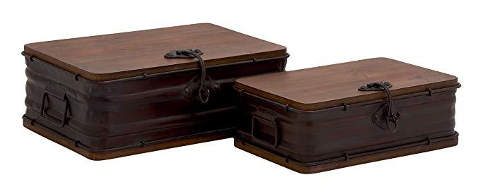 Benzara Classy theo kiểu bộ hộp gỗ kim loại tuyệt đẹp của 2