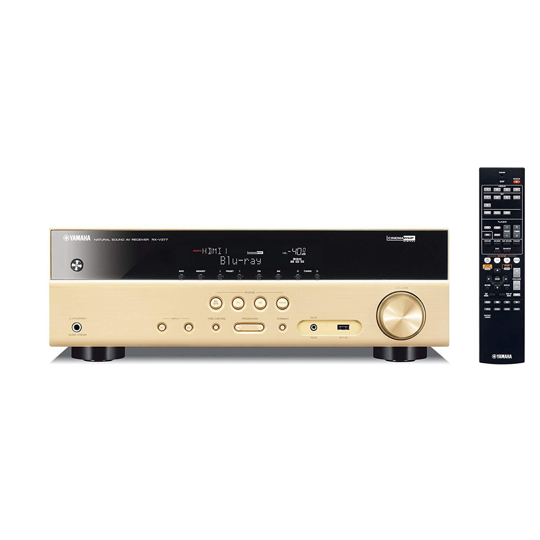 Gia đình YAMAHA chiếc Yamaha RX-V377 rạp 5.1 kênh (5 * 135W) AV máy hỗ trợ giao diện USB / 3D màu và