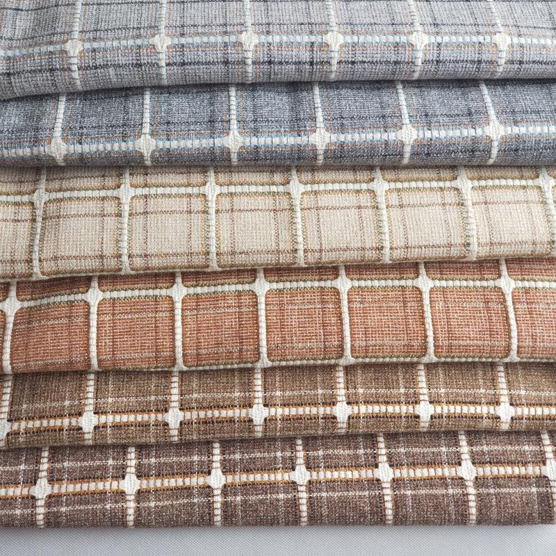 Chenille sợi nhuộm jacquard sọc vải Polyester-bông vải jacquard phát hành Cát gối vải nhà máy trực t