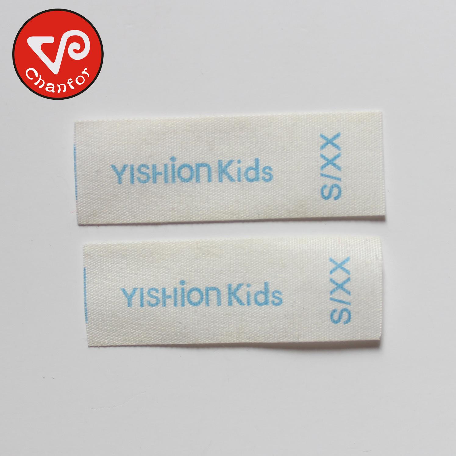 Bông cổ áo tùy chỉnh thực hiện bông có thể giặt con dấu của trẻ em mặc nhãn hiệu vải nhãn thiết kế m