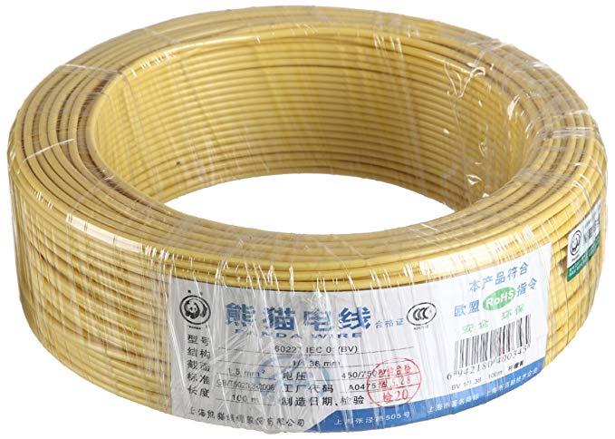 PANDA WIRE Panda Wire Mục đích chung Lõi đơn lõi cứng Dây đồng bọc không vỏ 1,5 Chiều rộng 100 Mét 6