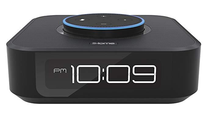 Đồng hồ đầu giường tương thích Ihome Alexa, đế cắm Amazon Dot & loa Bluetooth