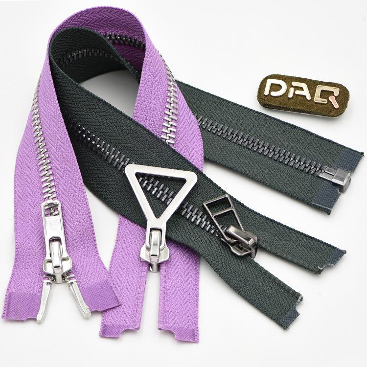 DAQ cao cấp quần áo dây kéo mở đuôi kim loại nylon resin zipper top váy trở lại đồng dây kéo tùy chỉ