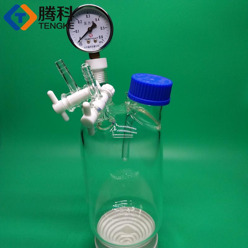 chai hút chân không tường dày 1000ml có thiết bị phòng thí nghiệm, đồ thủy tinh nghịch ngợm.