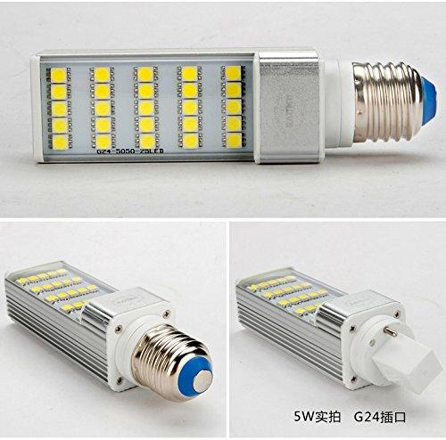 Liang hình sáng chiếu sáng dẫn 9W 4 thanh dẫn ngang cắm ánh sáng một mặt ánh sáng ngô ánh sáng lớn v