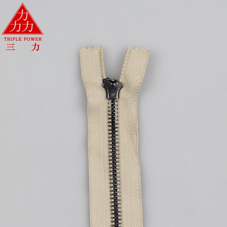 Sanli kim loại sắt dây kéo túi thứ 5 kim loại dây kéo dài tại chỗ đóng đuôi mùa xuân đầu dây kéo phụ