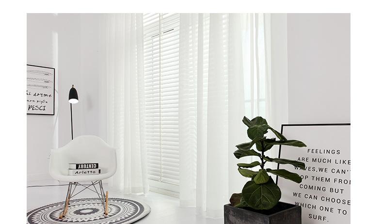 Bắc Âu mặc áo bông cao cấp cửa sổ có rèm sợi mềm hôn phu dủ độ Giai, phòng khách, phòng ngủ màu đặc