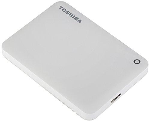 TOSHIBA Toshiba V8 CANVIO cao cấp chia sẻ loạt ổ cứng di động 2,5 inch (USB3.0) 1TB (màu trắng tươi)