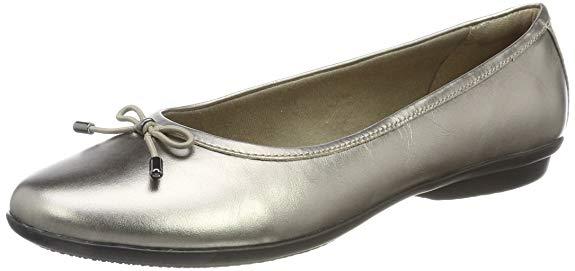 Giày ballet nữ màu bạc Clarks gracelin BLU