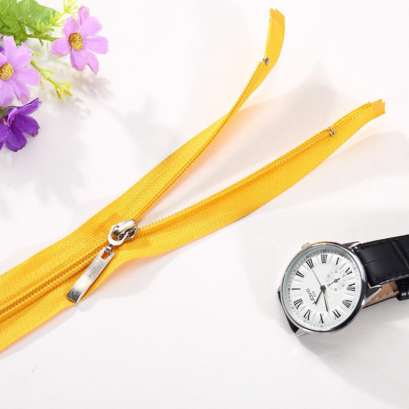 Lean ECE nhà máy trực tiếp 5th nylon mở đuôi dây kéo màu Tinh Khiết dễ dàng để kéo mịn