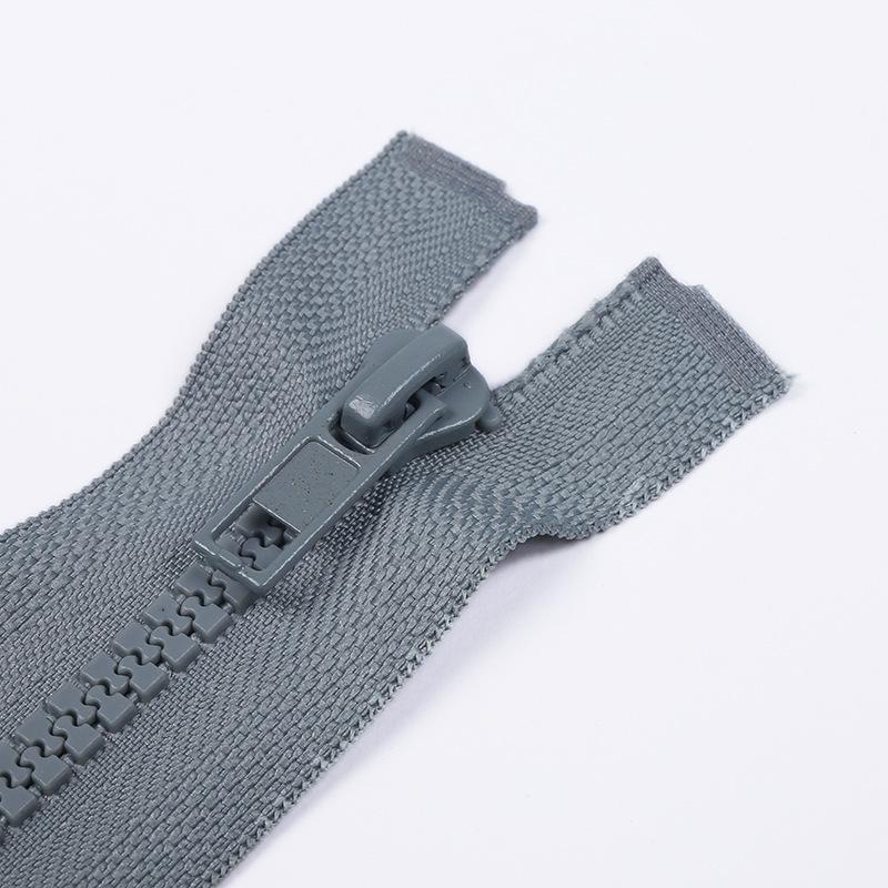 Số 5 răng nhựa mở dây kéo Nhựa mở dây kéo Xuống áo khoác dây kéo bên ngoài Kéo không phai